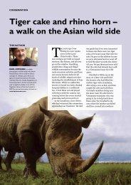 Tiger cake and rhino horn – a walk on the Asian wild ... - Karl Ammann