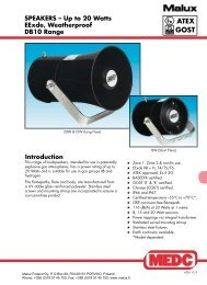 DB10 explosionproof horn loudspeaker for ... - Malux Finland Oy