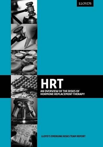 HRT: An overview of the risks of Hormone Replacement ... - Lloyd's