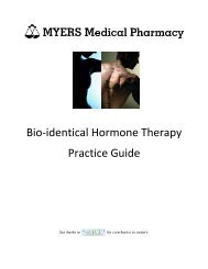 Bio-identical Hormone Therapy Practice Guide - MYERS Medical ...