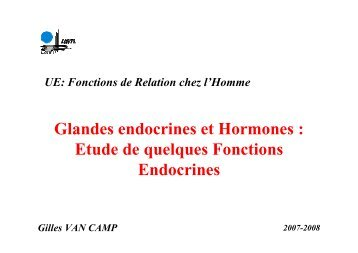 Glandes endocrines et Hormones - la physiologie animale a l ...