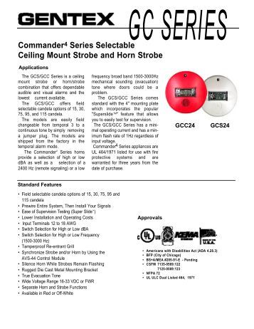 wiring diagram sdm or commander4 series selectable ceiling mount strobe and horn