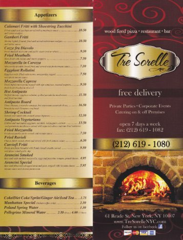 Download Menu (PDF) - Tre Sorelle