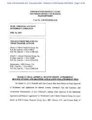 Final Approval of the Settlement - Citizens Bank Overdraft Settlement