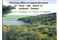 Thinning effect on stand structure of holm oak stand in northern ...