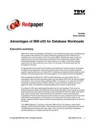 Advantages of IBM eX5 for Database Workloads - IBM Redbooks