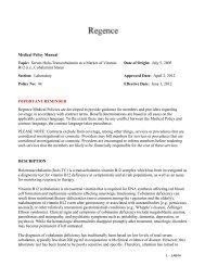 Serum Holo-Transcobalamin as a Marker of Vitamin B12 ... - Regence