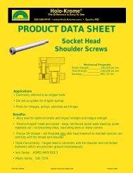 Socket Shoulder Bolts Data Sheet - Holo-Krome