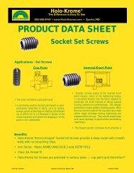 Set Screw Data Sheet - Holo-Krome
