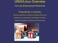 INTRODUCTION TO UNIX - CJ Fearnley's Home Page