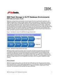 IBM Flash Storage in OLTP Database Environments