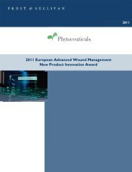 Frost & Sullivan Product Evaluation - Phytoceuticals