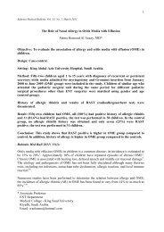 Prevalence of allergic rhinitis in children with Otitis - Bahrain Medical ...