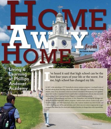 living & learning at Phillips andover academy