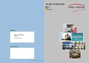 Oil Mist Eliminators (OME) - ZANNI + PARTNER Ltd.