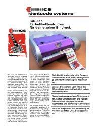 ICS-Zeo Farbetikettendrucker für den starken Eindruck