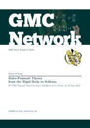 Euler-Poincaré Theory from the Rigid Body to Solitons - GMC Network
