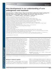 New developments in our understanding of acne pathogenesis and ...
