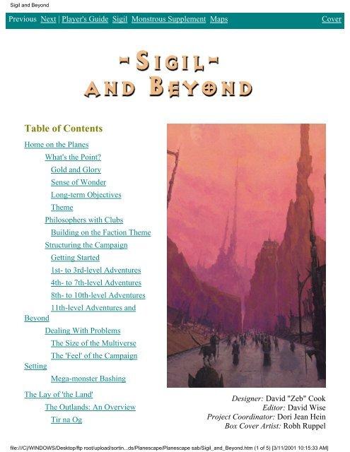 planescape sigil and beyond pdf - Spillklubben