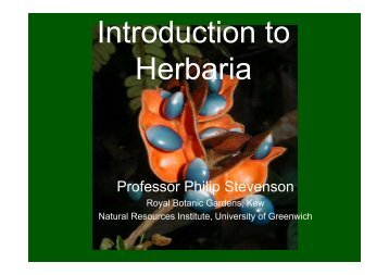 Herbarium introduction - Natural Resources Institute
