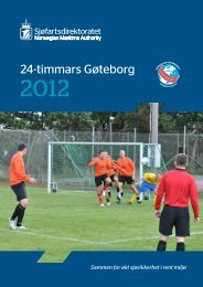 Resultater fra 24-timmars i Gøteborg 2012 (PDF - Sjøfartsdirektoratet