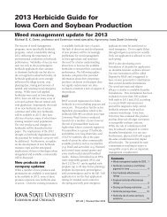 2013 Herbicide Guide for Iowa Corn and Soybean Production