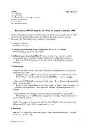 Referat fra NORNA-møte nr. 86 i Oslo 31. januar–1. februar 2008