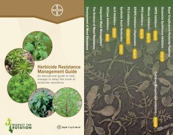 Herbicide Resistance Management Guide - Bayer CropScience