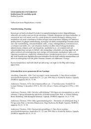 Namnforskning (PDF) - Institutionen för nordiska språk - Stockholms ...