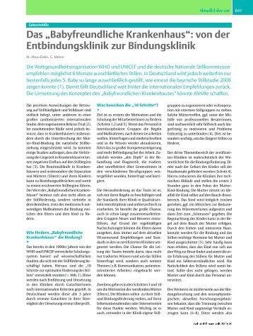"""Das """"Babyfreundliche Krankenhaus´: von der Entbindungsklinik zur ..."""