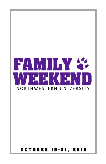 Download a printable version of the Family Weekend schedule (.PDF)