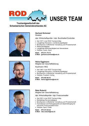 UNSER TEAM Treuhandgesellschaft des Schweizerischen - ROD