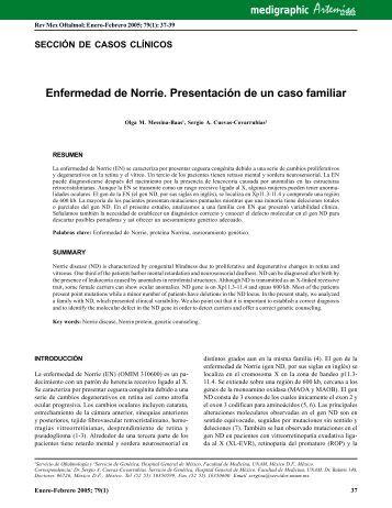 Enfermedad de Norrie. Presentación de un caso ... - edigraphic.com