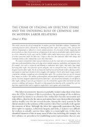 The Crime of Staging an Effective Strike and - Colorado Law ...