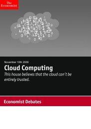 Economist Debate: Cloud Computing. Sponsored by CSC.