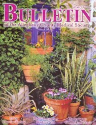 January 2010 Bulletin - Allegheny County Medical Society