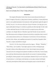 1 A Review of Nietzsche's New Darwinism by ... - Nietzsche Circle