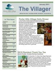 January 2011 Villager - Porter Hills Retirement Communities and ...