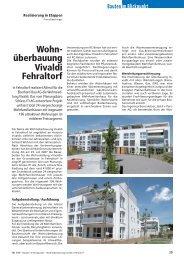 Wohn- überbauung Vivaldi Fehraltorf - Robe Verlag AG