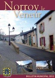 Bulletin municipal 2012 (3.84 Mo - format .pdf) - Norroy le Veneur