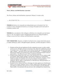 Waiver, Release And Hold Harmless Agreement ... - Green & Gold