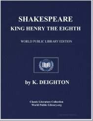 SHAKESPEARE, KING HENRY THE EIGHTH - World eBook Library