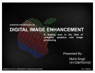 DIGITAL IMAGE ENHANCEMENT - 123SeminarsOnly.com