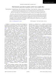 Third harmonic generation in graphene and few-layer graphite films