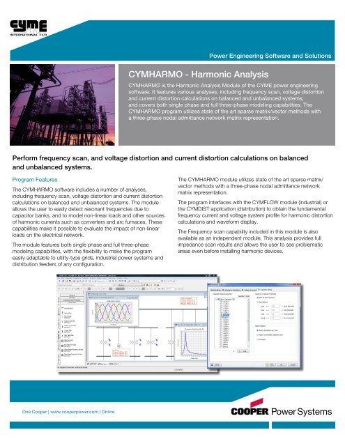 CYMHARMO - Harmonic Analysis - Cyme International