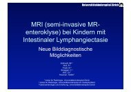 MR Enteroklyse bei Intestinaler Lymphangiektasie