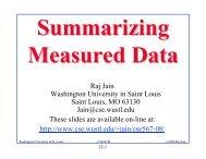 Summarizing Measured Data - Washington University in St. Louis