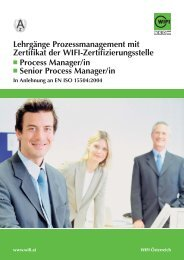WIFI Prozessmanagement