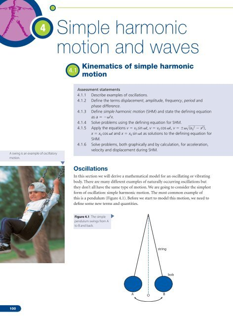 4 Simple harmonic motion and waves