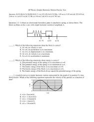 Advanced Physics Practice Test Answers 14-15-16 pdf